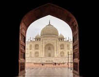 Taj Mahal East View Stock Photo