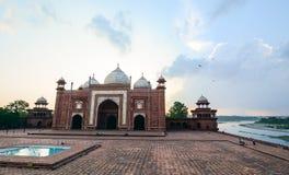 Taj Mahal em Agra, India fotografia de stock