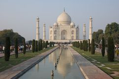 Taj Mahal em Agra, India - novembro 2011 Fotografia de Stock
