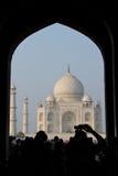 Taj Mahal em Agra, India - novembro 2011 Foto de Stock Royalty Free