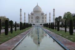 Taj Mahal en Agra la India foto de archivo