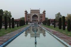 Taj Mahal en Agra la India imagenes de archivo