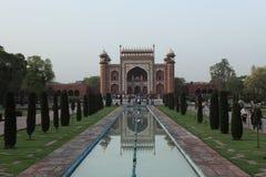 Taj Mahal en Agra la India imagen de archivo libre de regalías