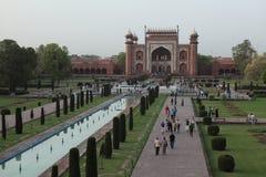 Taj Mahal en Agra la India imagen de archivo