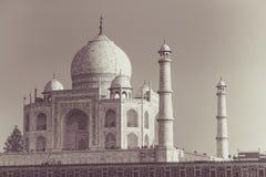Taj Mahal en blanco y negro Fotografía de archivo libre de regalías