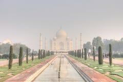 Taj Mahal en début de la matinée Image stock