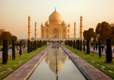 Taj Mahal en Inde image stock