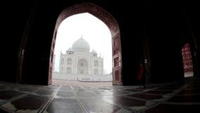 Taj Mahal en la India almacen de video