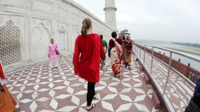 Taj Mahal en la India almacen de metraje de vídeo