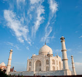 Taj Mahal en la luz de la salida del sol, Agra, la India Foto de archivo libre de regalías