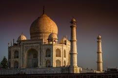 Taj Mahal en la puesta del sol Imagen de archivo