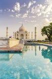 Taj Mahal en la salida del sol Foto de archivo libre de regalías