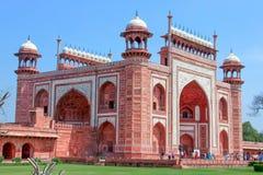 Taj Mahal - entrada principal, Índia Imagens de Stock