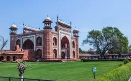 Taj Mahal - entrada principal, Índia Fotos de Stock Royalty Free