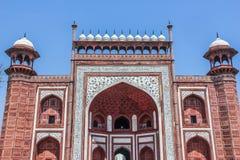 Taj Mahal - entrada principal, Índia Imagem de Stock