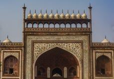 Taj Mahal Entrance View royaltyfria bilder