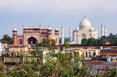 Taj Mahal et Âgrâ Photographie stock libre de droits