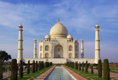 Taj mahal in evening sun stock images