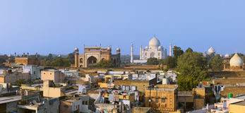 Taj Mahal at evening. Royalty Free Stock Image