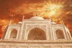 Taj Mahal Exterior Building Agra, Indien Royaltyfria Foton