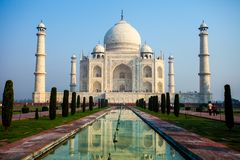 Taj mahal , A famous historical monument, A monument of love, the Greatest White marble tomb in India, Agra, Uttar Pradesh Royalty Free Stock Photography