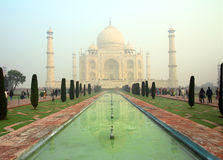 Taj Mahal - famous mausoleum Stock Photography