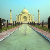Taj Mahal - famous mausoleum in India Stock Images