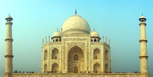 Taj Mahal - famous mausoleum in India Royalty Free Stock Photo