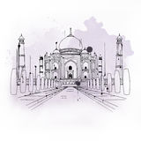 Taj Mahal, famous tourist attraction in India Royalty Free Stock Photos