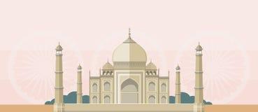 The Taj Mahal Flat Image Stock Photo