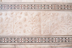 Taj Mahal flower decorations Stock Photography