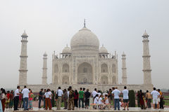 The taj mahal in the fog Royalty Free Stock Photo