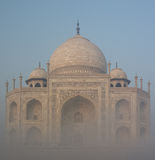 Taj Mahal with fog. The Taj Mahal main compound rising from the morning fog Stock Photos