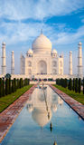 Taj Mahal Fountain Reflection Telephoto Fountain Royalty Free Stock Photo