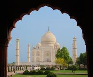 Taj Mahal in frame - unusual view Royalty Free Stock Images