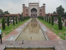 Taj Mahal Front stockbilder