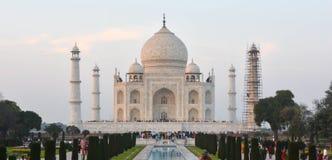 Taj Mahal Front View Agra Indien Royaltyfri Fotografi
