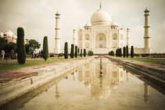 The Taj Mahal. Front view of Taj Mahal mausoleum, in India Royalty Free Stock Image