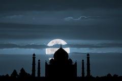 Taj Mahal Full Moon Imagen de archivo