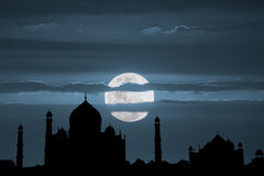 Taj Mahal Full Moon Foto de archivo