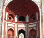 Taj Mahal głównej bramy architektoniczni szczegóły Zdjęcia Stock