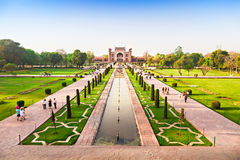 Taj mahal garden Royalty Free Stock Photos
