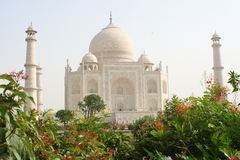 Taj Mahal garden view Stock Images