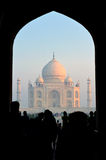 Taj Mahal through the Gate at dawn, India Stock Photography