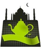 Taj Mahal Green Tea Pot Fotografia Stock