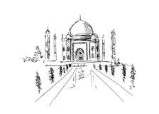 Taj Mahal. Hand sketch taj mahal. Vector illustration Royalty Free Stock Image