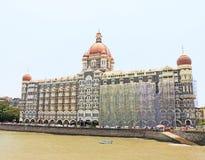 Taj mahal hotel die overzeese mumbai Bombay India onder ogen zien Stock Afbeeldingen