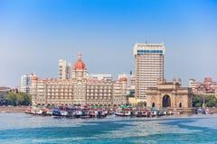 Taj Mahal Hotel ed ingresso dell'India Immagini Stock Libere da Diritti