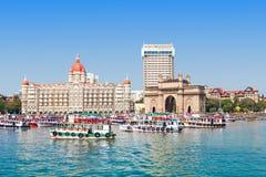 Taj Mahal Hotel ed ingresso dell'India Fotografia Stock Libera da Diritti