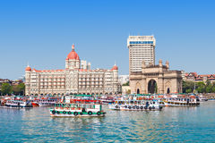 Taj Mahal Hotel and Gateway of India Stock Photography